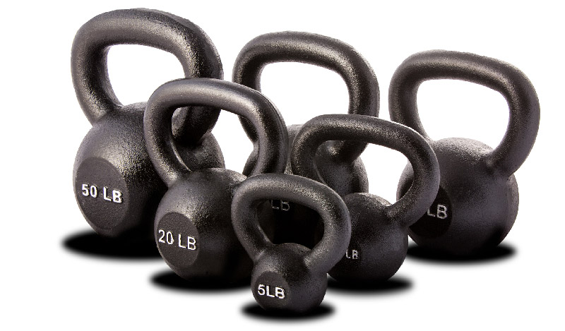 Collection de kettlebells